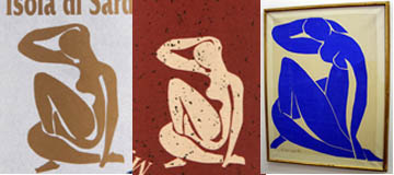 "The labels for Limonsardo and Mirto were inspired by Henri Matisse's 1952 series of ""gouaches decouppées"" Blue Nudes."