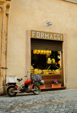 In the centri storici of Italian towns, cheese shops are almost as common as cobbled streets and vintage motorini.