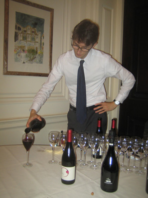 Lini's Lambrusco Scuro flowed liberally at the Italian Consulate last night.