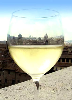 The Eternal City as viewed through a chilled glass of Campo Vecchio Bianco.