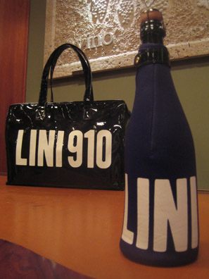 LINI910 as followed up its chic PVC bag with the innovative bottle-sock.