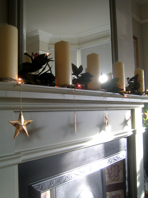 The living room mantelpiece at my parent's house in Loughborough, Leicestershire.