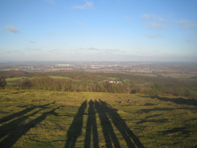 My hometown of Loughborough as photographed from atop Beacon Hill, the highest point in Leicestershire.