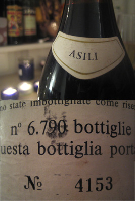 Only 6790 bottles of Asili single-vineyard 1979 Riserva were bottled. Number 4153 was certainly a good one.