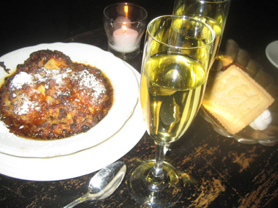 after the pappardelle it was a lot of dessert but hey, it's my birthday! Complimentary Moscato and biscotti!