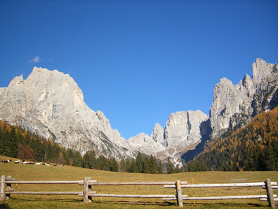 The Dolomites in northern Trentino create one of Italy's most dramatic mountain landscapes.