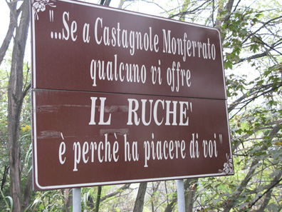 """When in Castagnole Monferrato if someone offers you Ruchè it is because they are delighted to have you."""