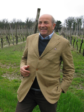 Enzo Mecella photographed in his vineyard by Vino's Jim Hutchinson, April 2009.