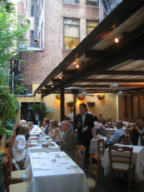 I Trulli's garden ranks as one of New York's favorite outdoor restaurant spaces.