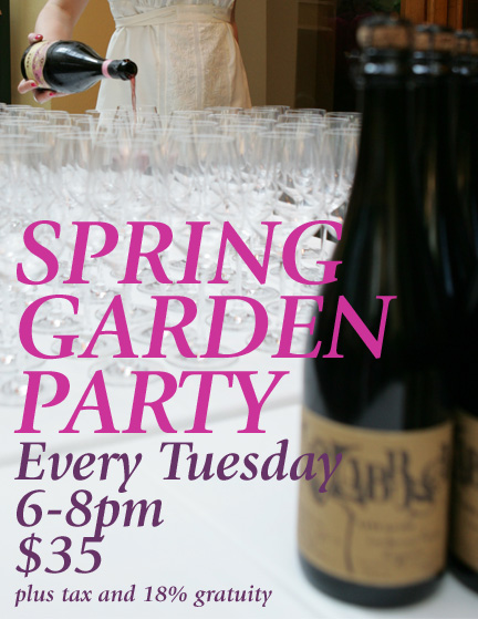 Spring Garden Party - Every Tuesday, 6-8pm