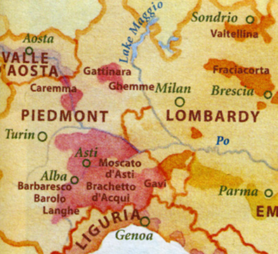 piedmont-lombardy map